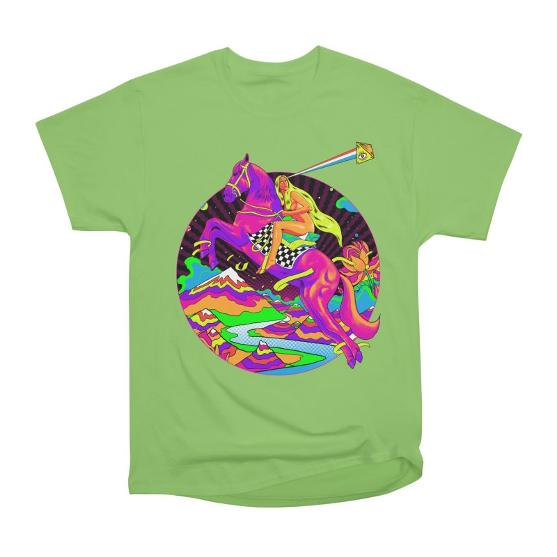 Lady Godiva - Neon Night Women's Heavyweight Unisex T-Shirt by RJ Artworks's Artist Shop