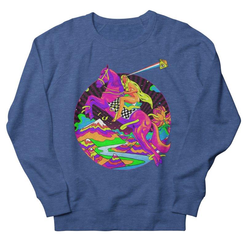 Lady Godiva - Neon Night Women's French Terry Sweatshirt by RJ Artworks's Artist Shop