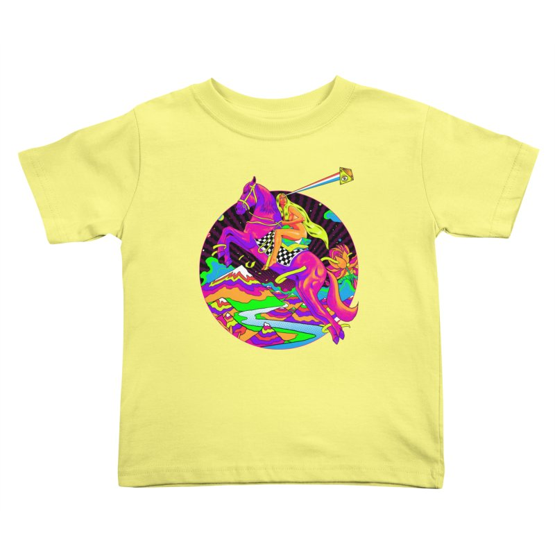 Lady Godiva - Neon Night Kids Toddler T-Shirt by RJ Artworks's Artist Shop