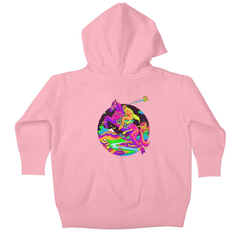 Lady Godiva - Neon Night Kids Baby Zip-Up Hoody by RJ Artworks's Artist Shop