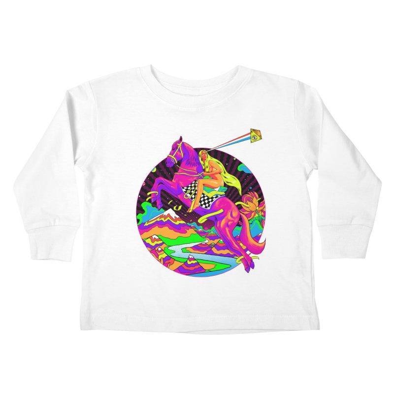 Lady Godiva - Neon Night Kids Toddler Longsleeve T-Shirt by RJ Artworks's Artist Shop