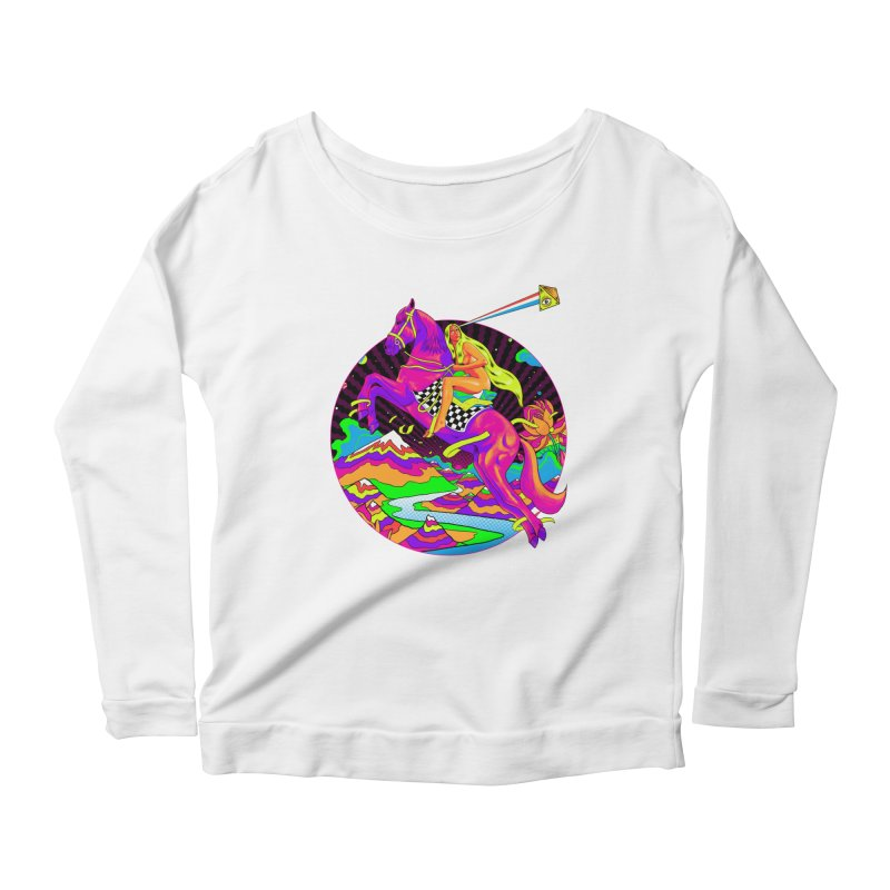 Lady Godiva - Neon Night Women's Scoop Neck Longsleeve T-Shirt by RJ Artworks's Artist Shop