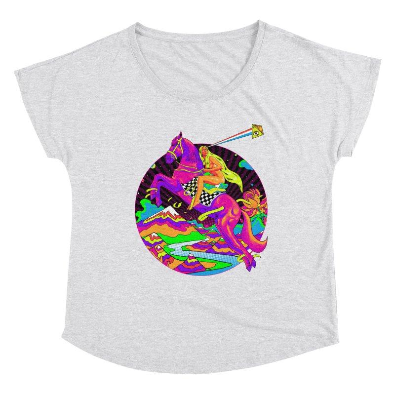Lady Godiva - Neon Night Women's Dolman Scoop Neck by RJ Artworks's Artist Shop