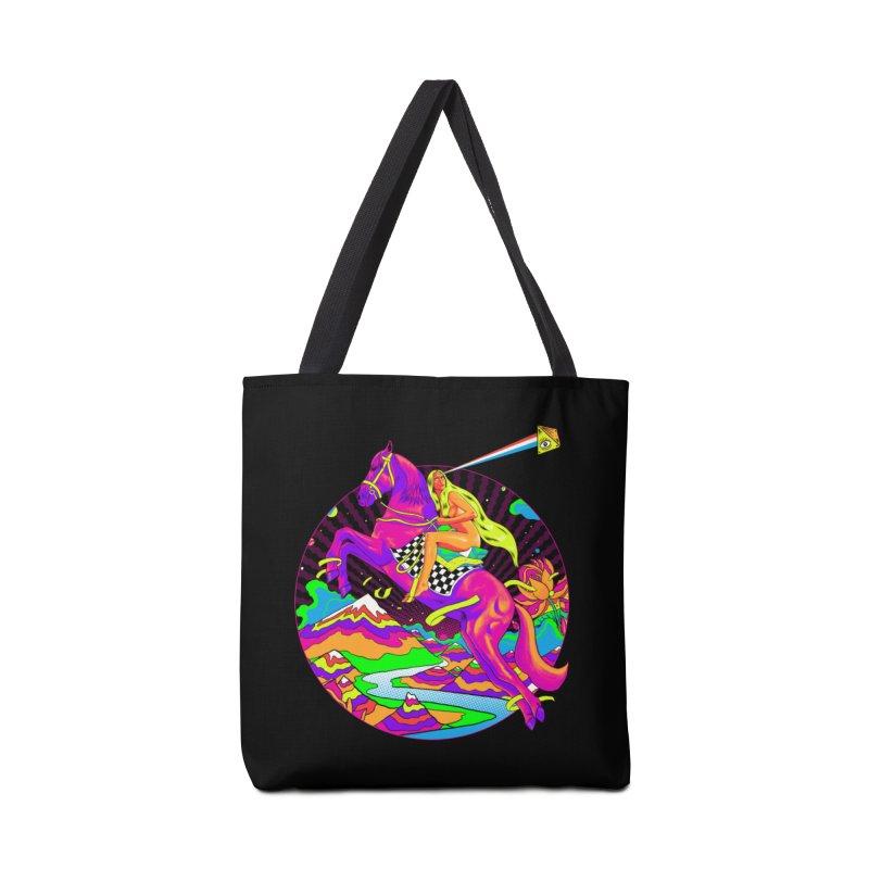 Lady Godiva - Neon Night Accessories Tote Bag Bag by RJ Artworks's Artist Shop