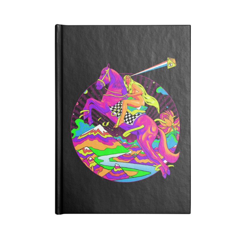 Lady Godiva - Neon Night Accessories Lined Journal Notebook by RJ Artworks's Artist Shop