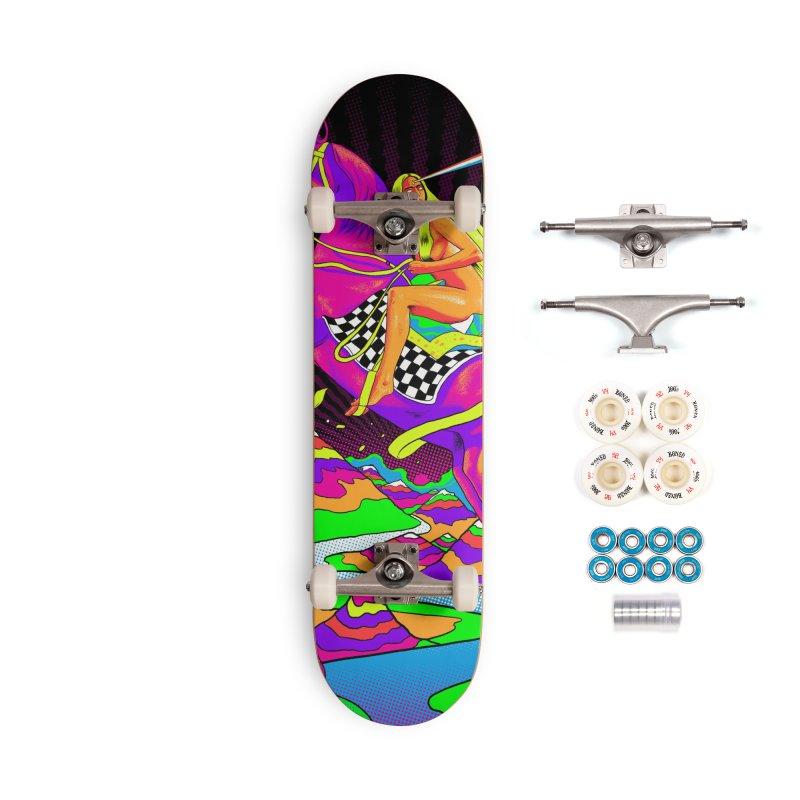 Lady Godiva - Neon Night Accessories Complete - Premium Skateboard by RJ Artworks's Artist Shop