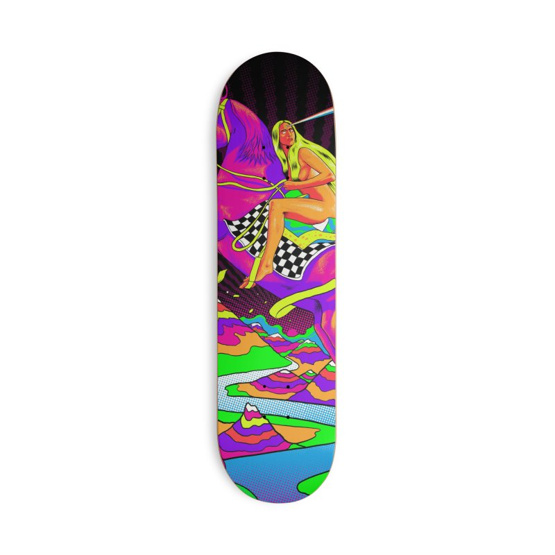 Lady Godiva - Neon Night Accessories Deck Only Skateboard by RJ Artworks's Artist Shop