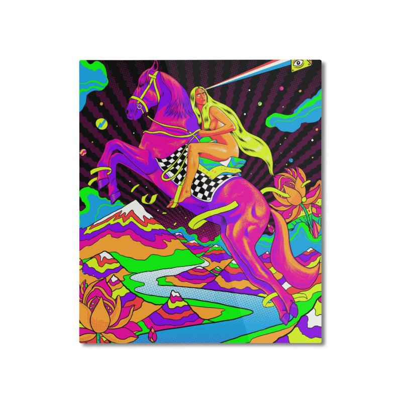 Lady Godiva - Neon Night Home Mounted Aluminum Print by RJ Artworks's Artist Shop