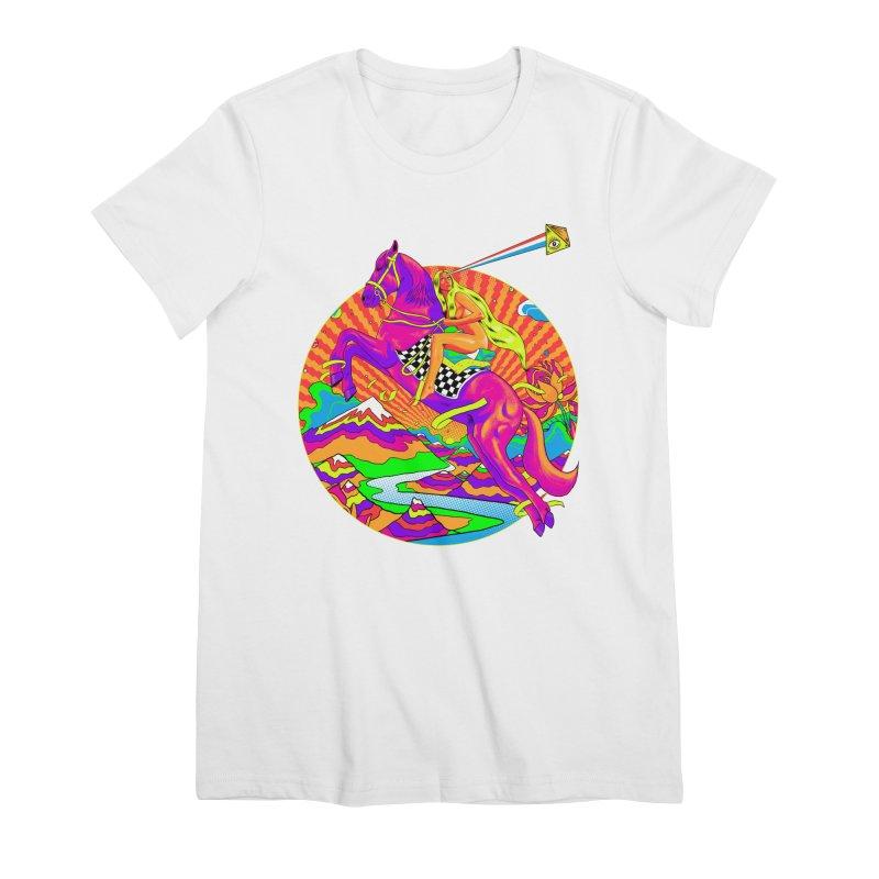 Lady Godiva - Bright Day Women's Premium T-Shirt by RJ Artworks's Artist Shop