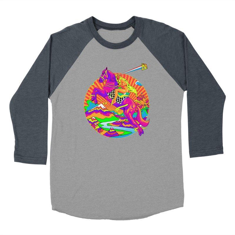 Lady Godiva - Bright Day Men's Baseball Triblend Longsleeve T-Shirt by RJ Artworks's Artist Shop