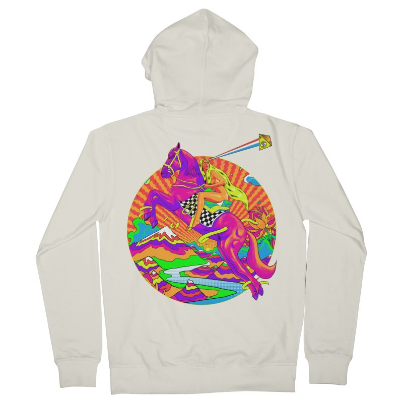 Lady Godiva - Bright Day Women's French Terry Zip-Up Hoody by RJ Artworks's Artist Shop