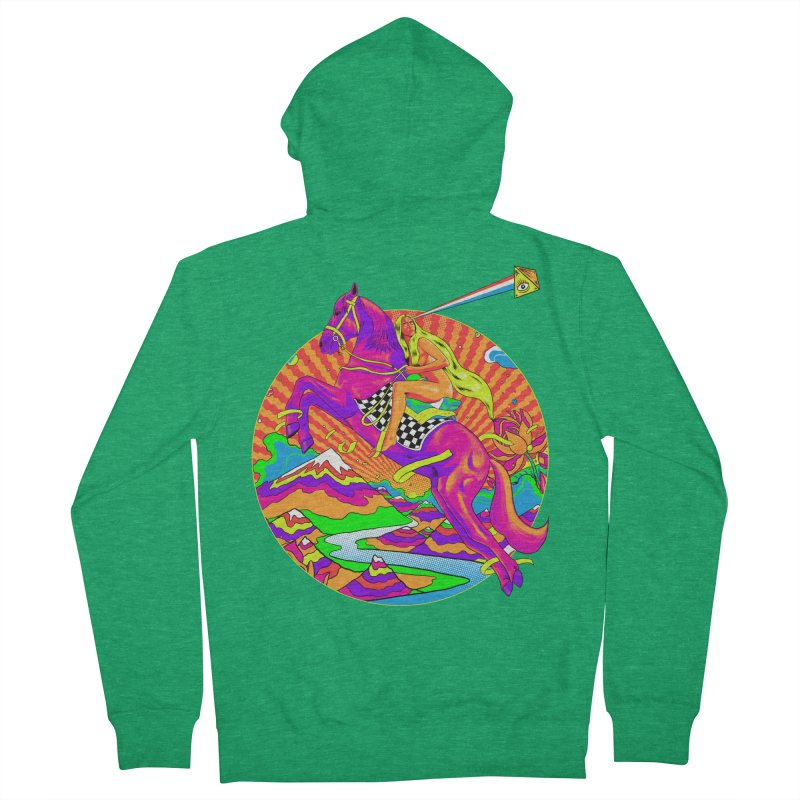 Lady Godiva - Bright Day Men's French Terry Zip-Up Hoody by RJ Artworks's Artist Shop