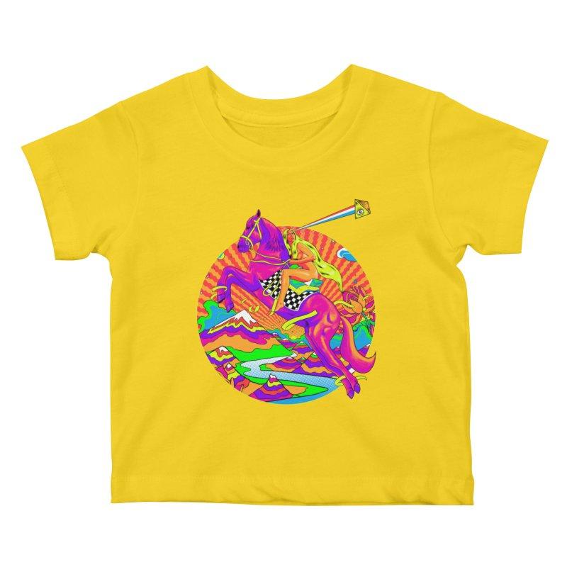 Lady Godiva - Bright Day Kids Baby T-Shirt by RJ Artworks's Artist Shop