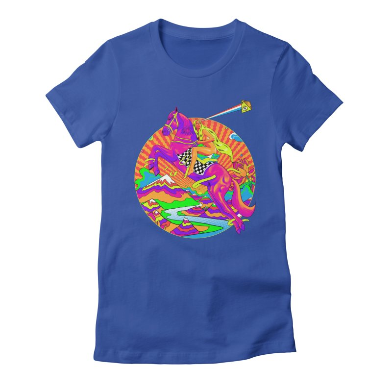 Lady Godiva - Bright Day Women's Fitted T-Shirt by RJ Artworks's Artist Shop