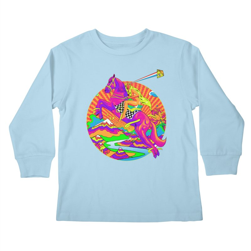 Lady Godiva - Bright Day Kids Longsleeve T-Shirt by RJ Artworks's Artist Shop