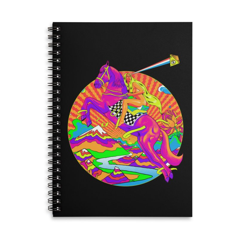 Lady Godiva - Bright Day Accessories Lined Spiral Notebook by RJ Artworks's Artist Shop