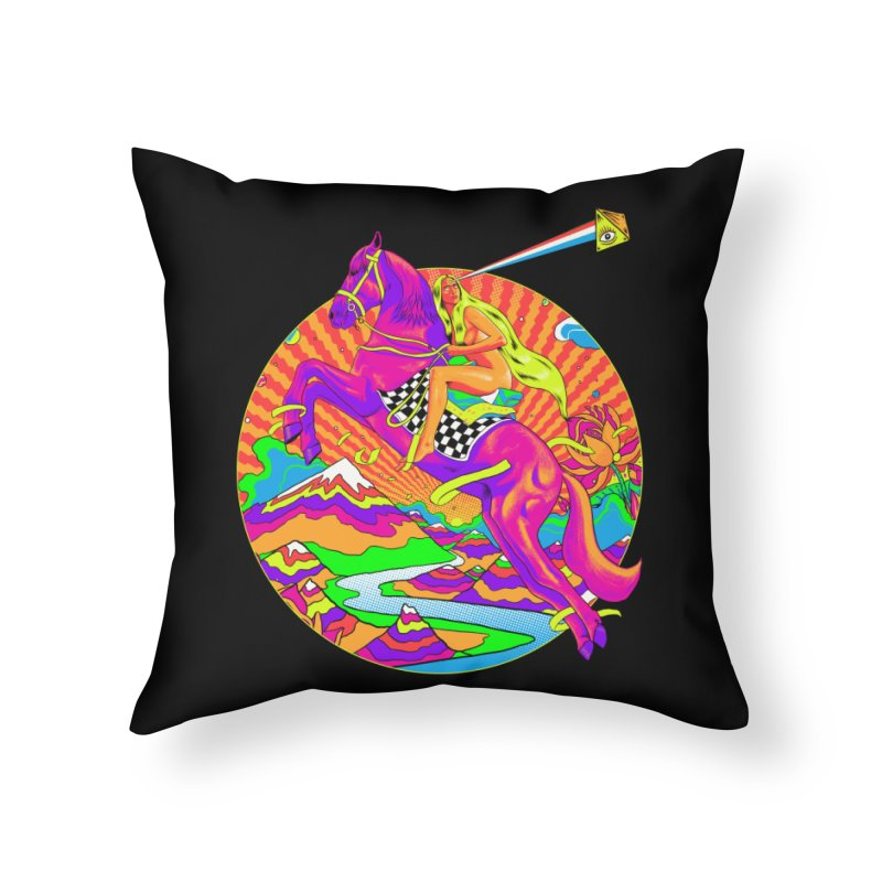Lady Godiva - Bright Day Home Throw Pillow by RJ Artworks's Artist Shop