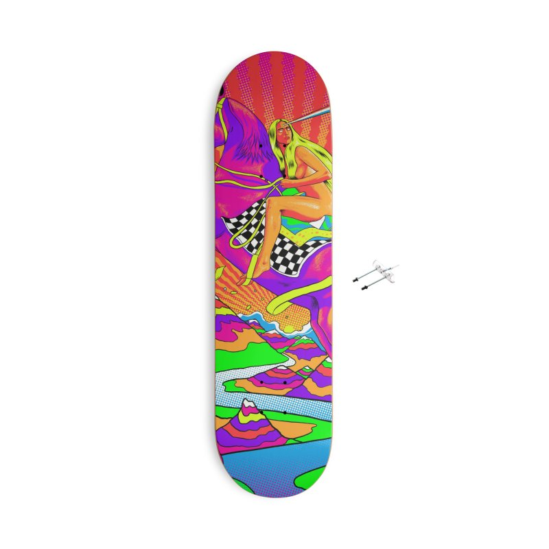 Lady Godiva - Bright Day Accessories With Hanging Hardware Skateboard by RJ Artworks's Artist Shop