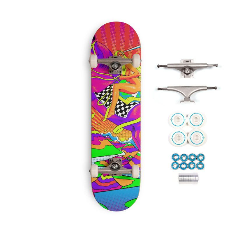 Lady Godiva - Bright Day Accessories Complete - Basic Skateboard by RJ Artworks's Artist Shop