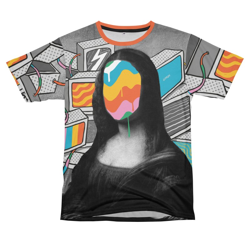 Mona Lisa Meltdown Men's T-Shirt Cut & Sew by RJ Artworks's Artist Shop