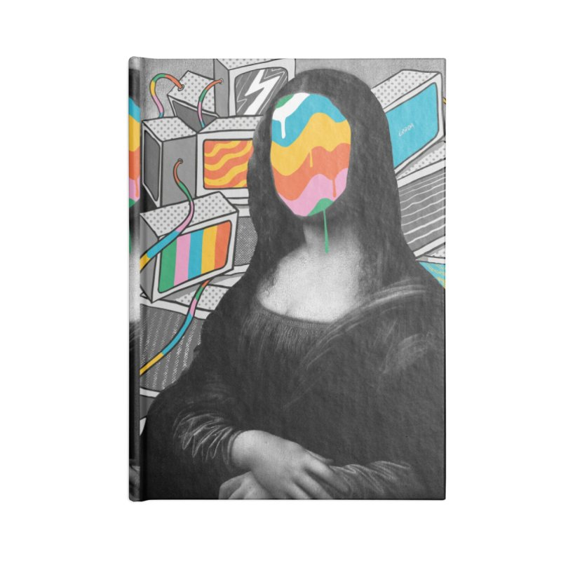 Mona Lisa Meltdown Accessories Lined Journal Notebook by RJ Artworks's Artist Shop