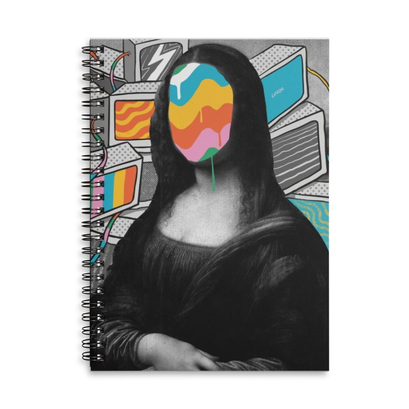Mona Lisa Meltdown Accessories Lined Spiral Notebook by RJ Artworks's Artist Shop