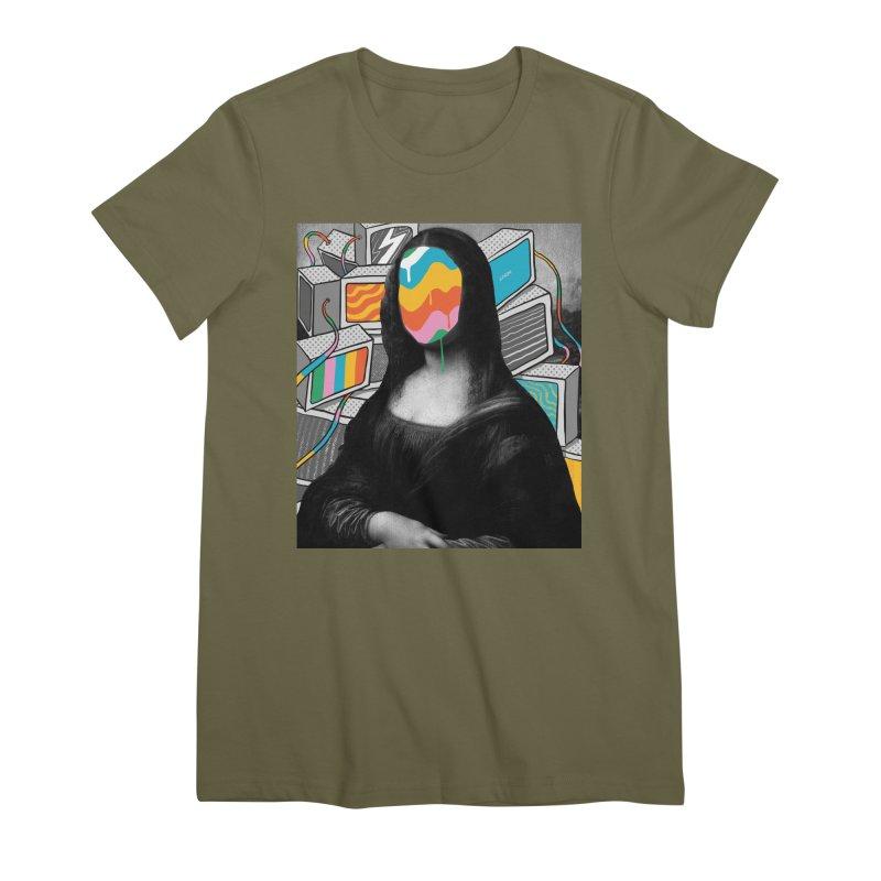 Mona Lisa Meltdown Women's Premium T-Shirt by RJ Artworks's Artist Shop