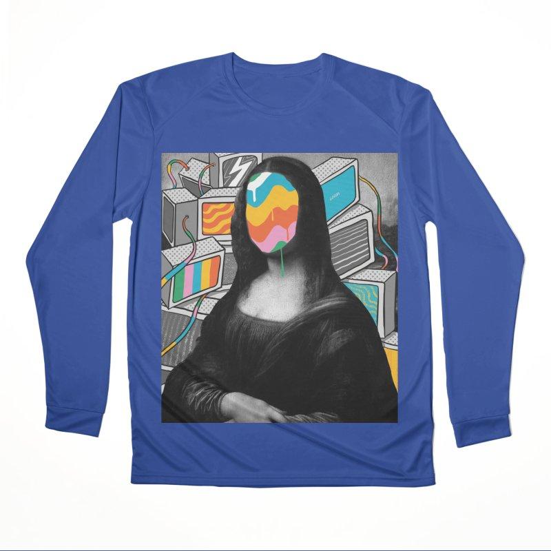 Mona Lisa Meltdown Men's Performance Longsleeve T-Shirt by RJ Artworks's Artist Shop