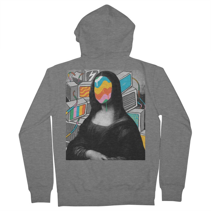 Mona Lisa Meltdown Women's French Terry Zip-Up Hoody by RJ Artworks's Artist Shop