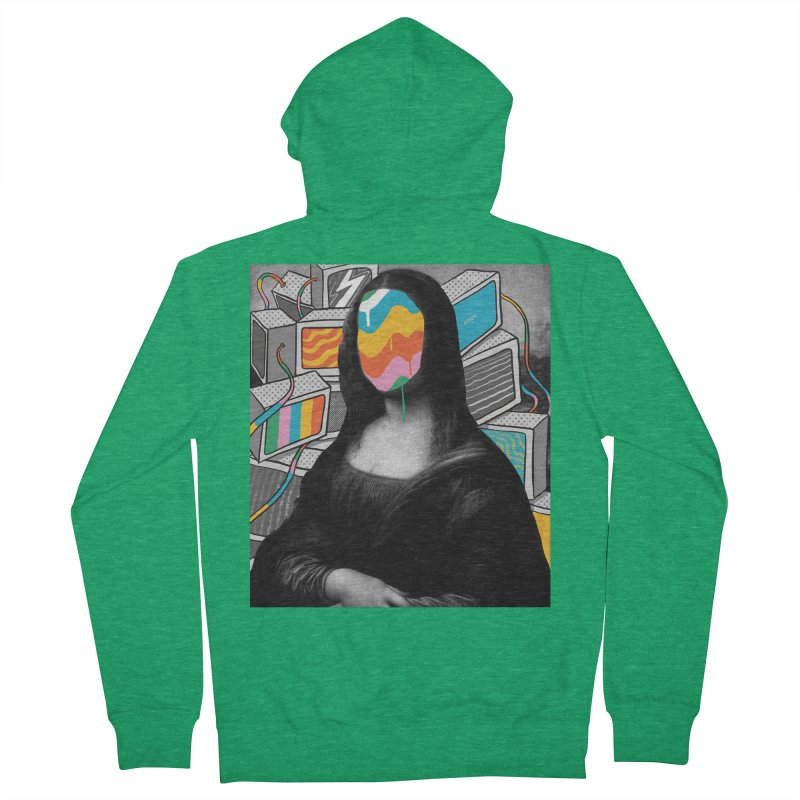 Mona Lisa Meltdown Men's French Terry Zip-Up Hoody by RJ Artworks's Artist Shop