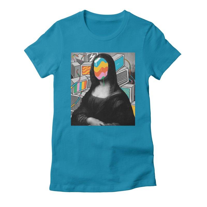 Mona Lisa Meltdown Women's Fitted T-Shirt by RJ Artworks's Artist Shop