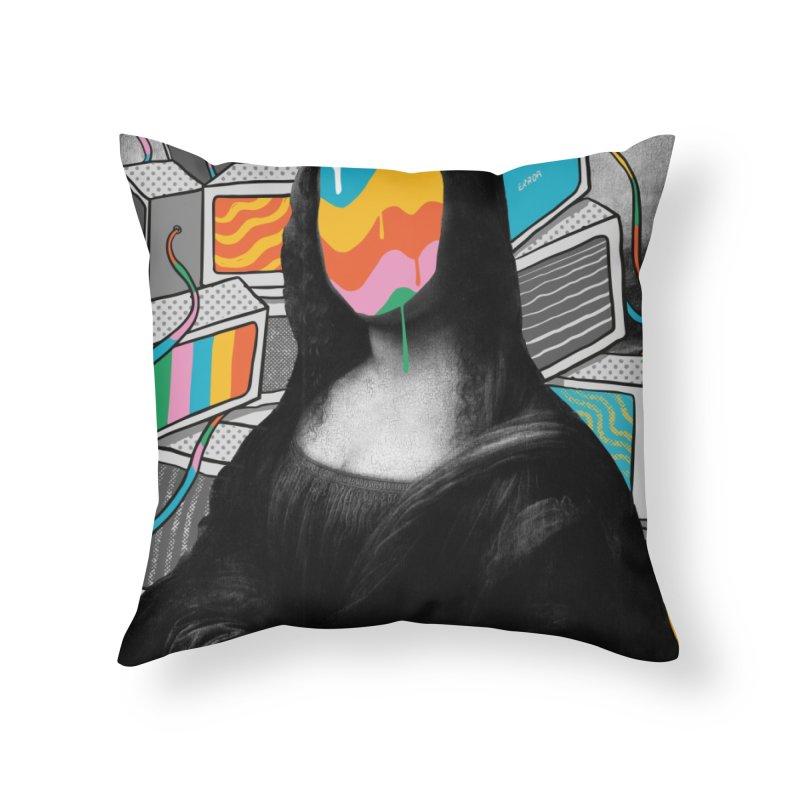Mona Lisa Meltdown Home Throw Pillow by RJ Artworks's Artist Shop