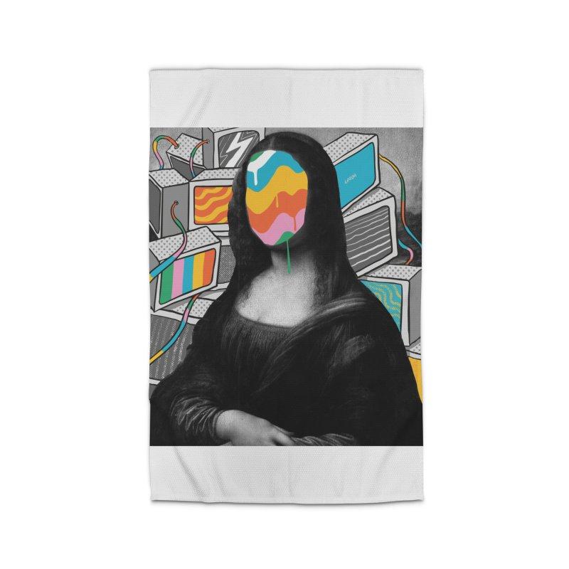 Mona Lisa Meltdown Home Rug by RJ Artworks's Artist Shop