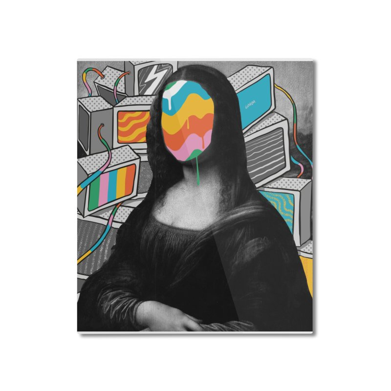 Mona Lisa Meltdown Home Mounted Aluminum Print by RJ Artworks's Artist Shop