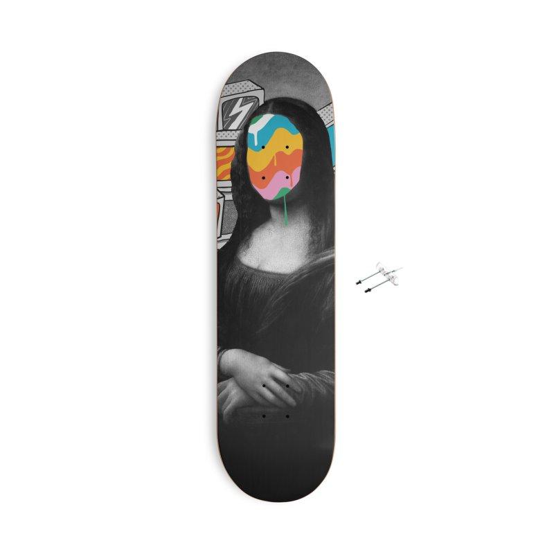 Mona Lisa Meltdown Accessories With Hanging Hardware Skateboard by RJ Artworks's Artist Shop