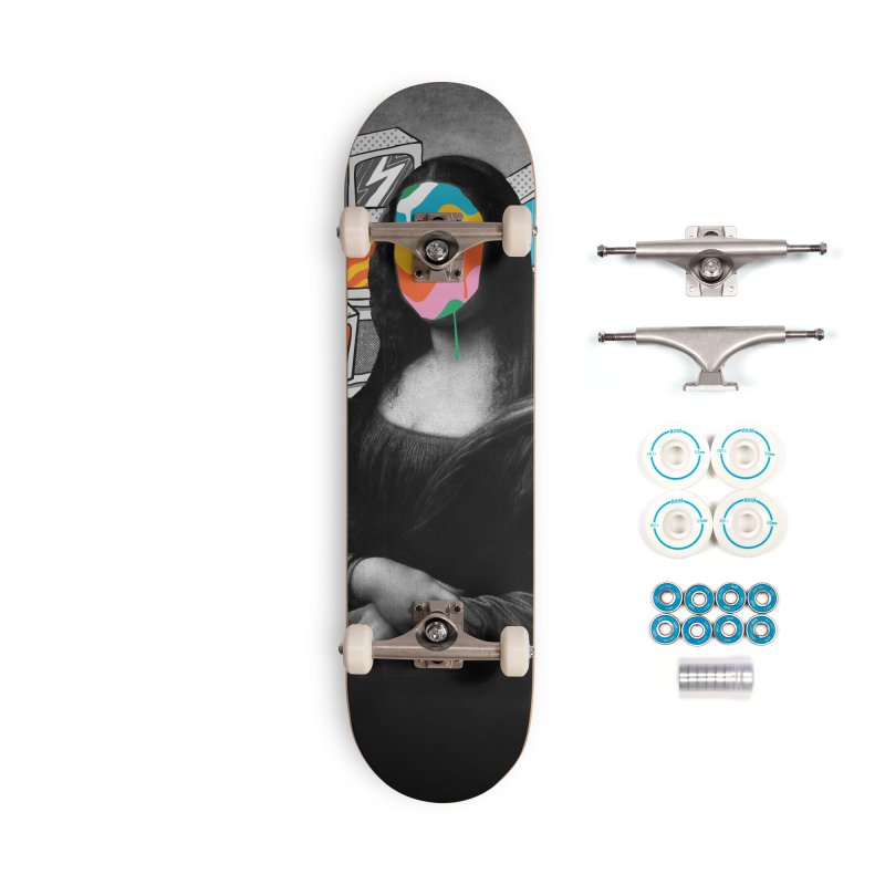 Mona Lisa Meltdown Accessories Complete - Basic Skateboard by RJ Artworks's Artist Shop