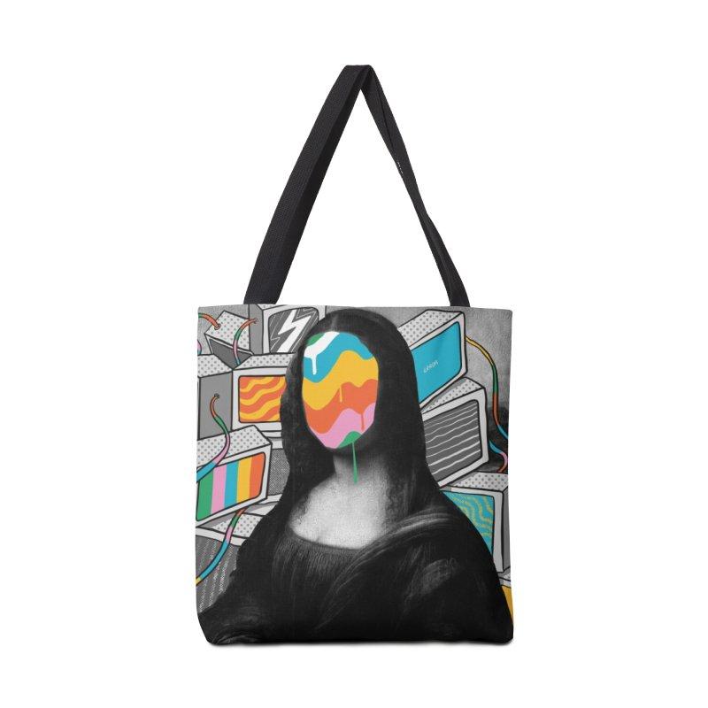 Mona Lisa Meltdown Accessories Bag by RJ Artworks's Artist Shop