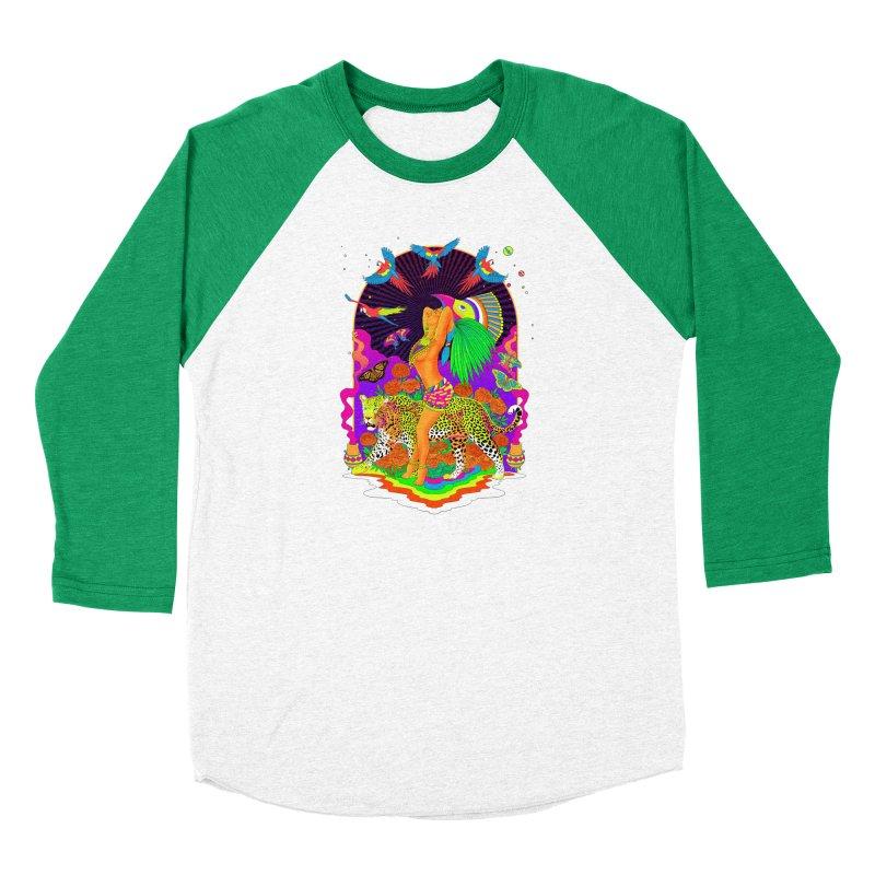 The Aztec Goddess Men's Baseball Triblend Longsleeve T-Shirt by RJ Artworks's Artist Shop
