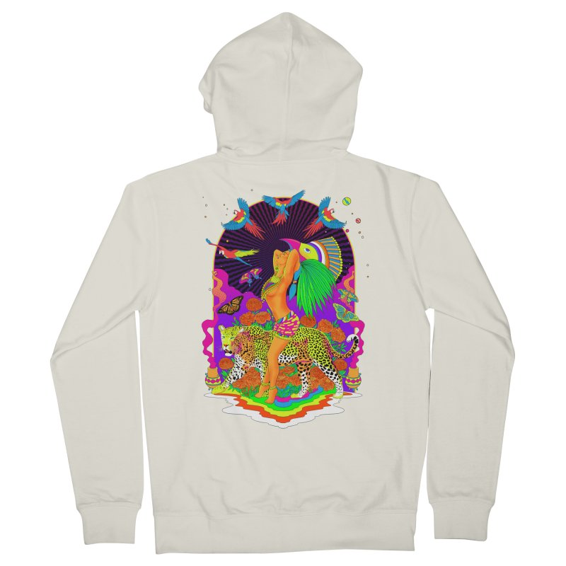 The Aztec Goddess Women's French Terry Zip-Up Hoody by RJ Artworks's Artist Shop