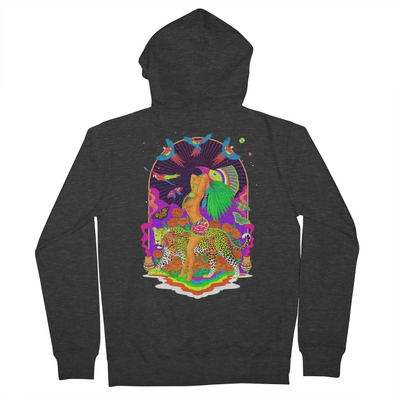 The Aztec Goddess Men's French Terry Zip-Up Hoody by RJ Artworks's Artist Shop