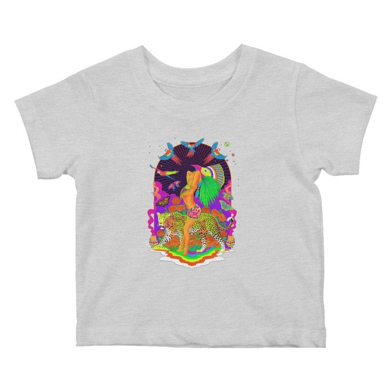 The Aztec Goddess Kids Baby T-Shirt by RJ Artworks's Artist Shop