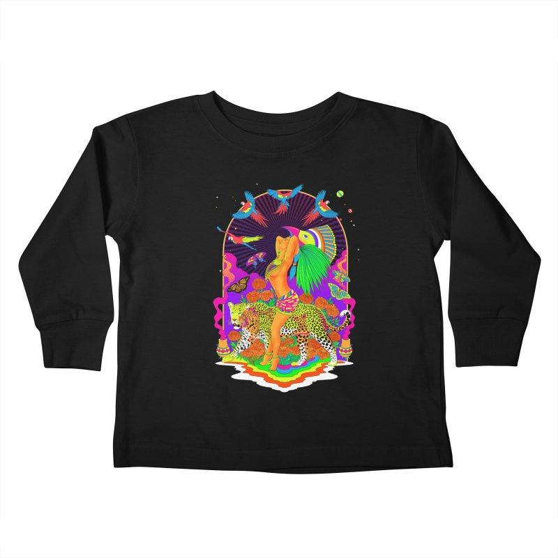 The Aztec Goddess Kids Toddler Longsleeve T-Shirt by RJ Artworks's Artist Shop