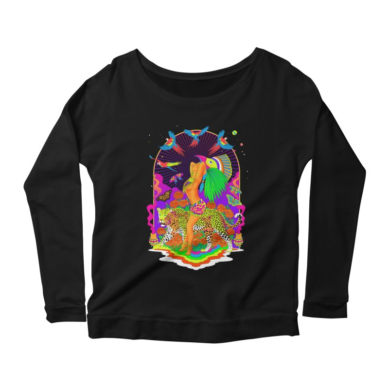 The Aztec Goddess Women's Scoop Neck Longsleeve T-Shirt by RJ Artworks's Artist Shop
