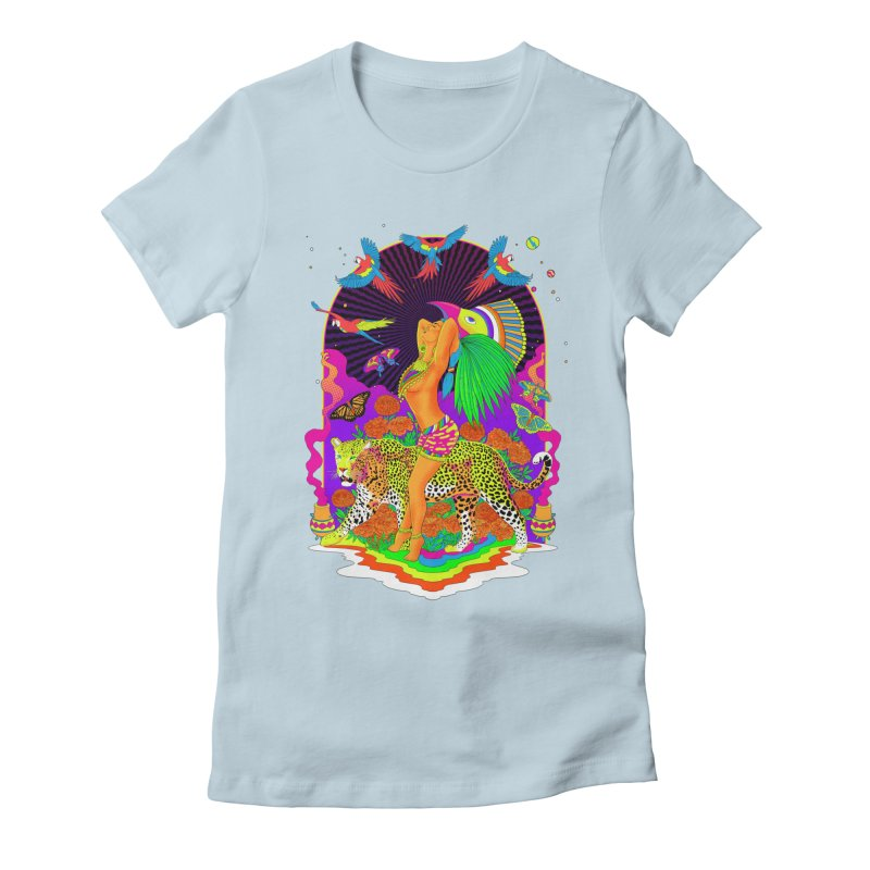 The Aztec Goddess Women's Fitted T-Shirt by RJ Artworks's Artist Shop
