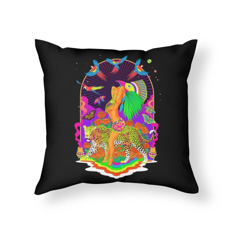 The Aztec Goddess Home Throw Pillow by RJ Artworks's Artist Shop