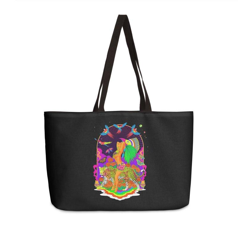 The Aztec Goddess Accessories Weekender Bag Bag by RJ Artworks's Artist Shop