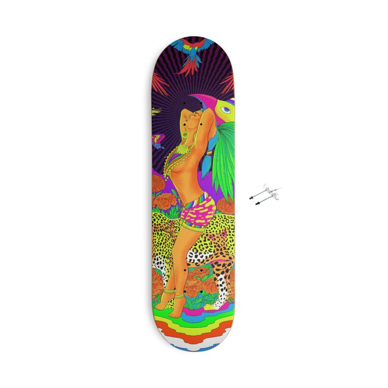 The Aztec Goddess Accessories With Hanging Hardware Skateboard by RJ Artworks's Artist Shop