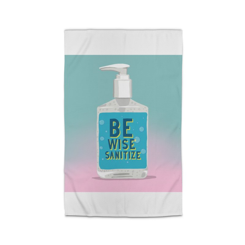 Be Wise Sanitize Home Rug by RJ Artworks's Artist Shop