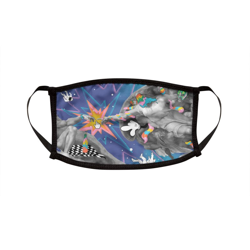 Click Here Accessories Face Mask by RJ Artworks's Artist Shop