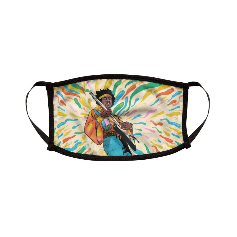 Guitar God Accessories Face Mask by RJ Artworks's Artist Shop